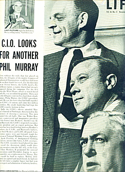 1952 -  Death of C.I.O. President PHIL MURRAY (Image1)