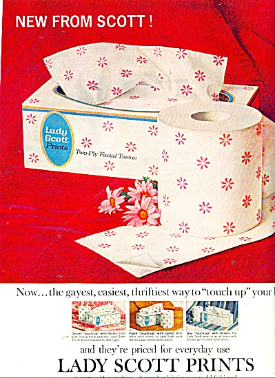 Lady Scott Prints facial tissue ad 1965 (Image1)