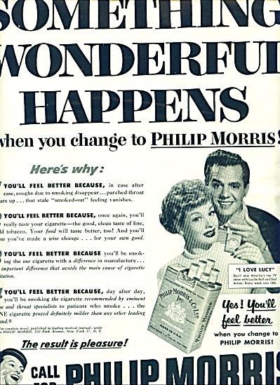 1952 - Philip Morris - LUCILLE BALL- DESI ARN (Image1)