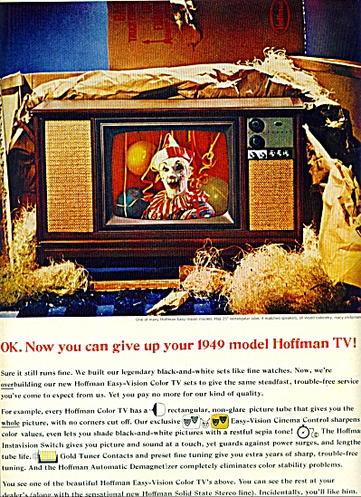 1965 -  Hoffman Television set ad (Image1)