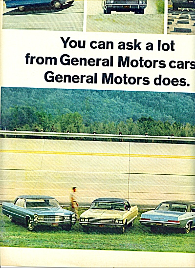 1965 -  General Motors CAR AD Chevy Caddy Olds ++ (Image1)