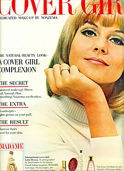 1965 Cover Girl By Noxzema Ad Lotte Dessau
