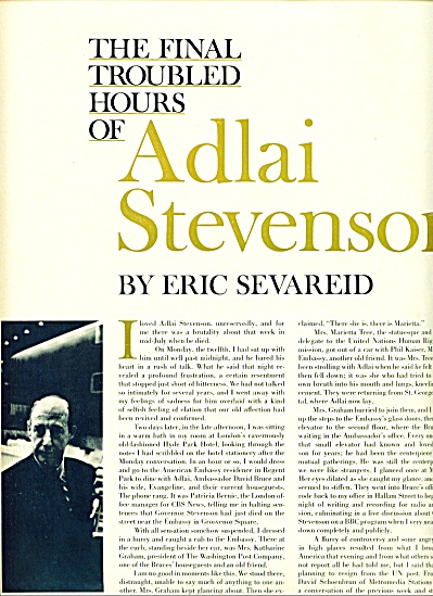 1952 - ADLAI STEVENSON - the last hours (Image1)