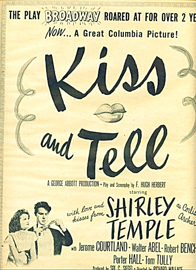 1945 - Movie:  Kiss and Tell SHIRLEY TEMPLE (Image1)