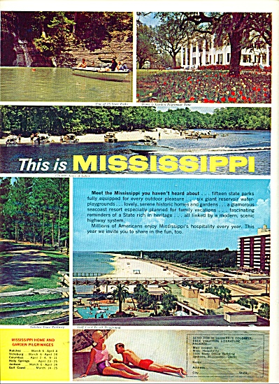 Missippippi travel guide ad 1965 (Image1)