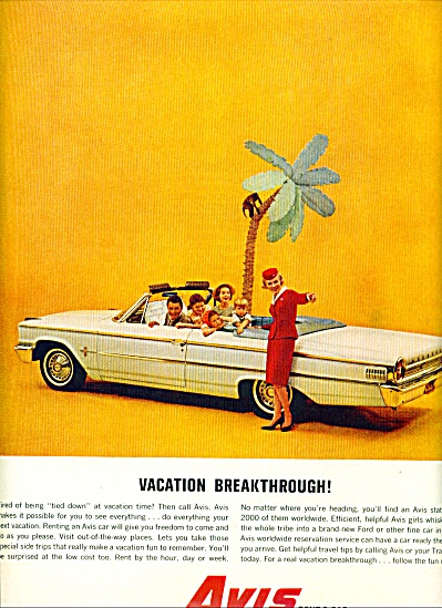 1962 -  Avis Rent a car ad (Image1)