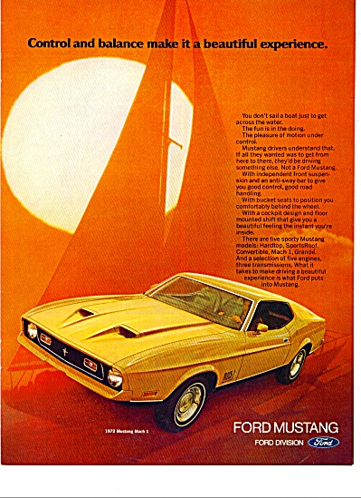 1972 -  Ford Mustang aduto ad for 1972 (Image1)