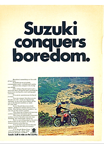 1972 - Suzuki motorcycle ad (Image1)