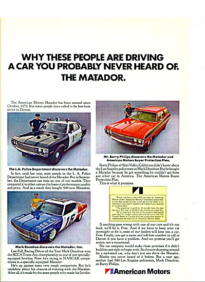 1972 -- American Motors -pThe Matador. (Image1)