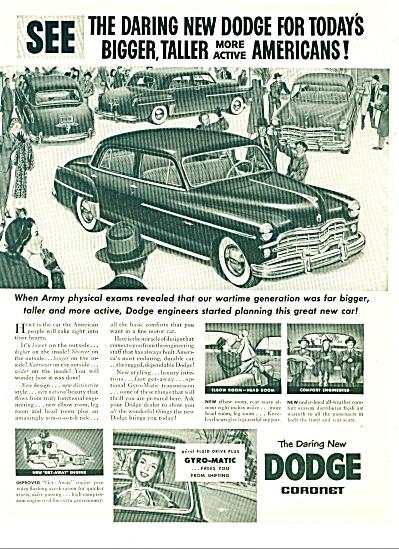 1949 - Dodge coronet ad (Image1)