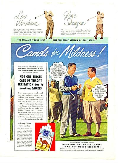 1949 -  Camels cigarettes - GENE SARAZEN (Image1)