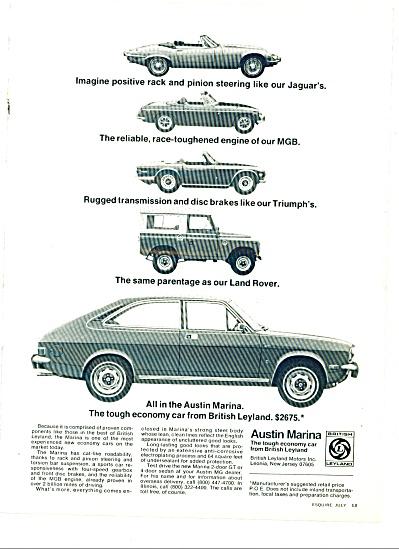 1973 - Austin Marina auto  ad (Image1)