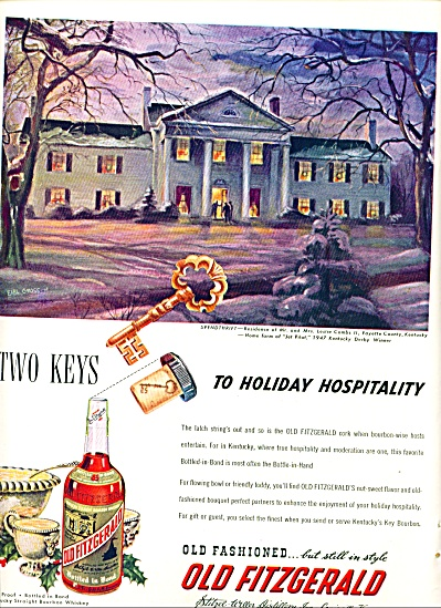 1948 - Old Fitzgerald Whiskey Ad