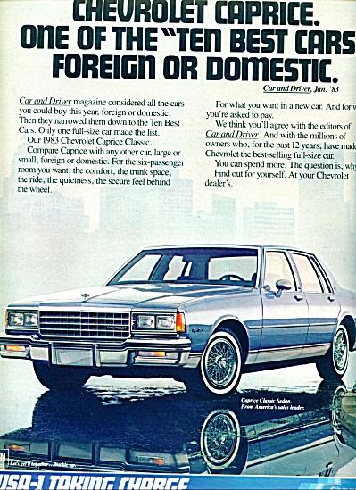 1983 - Chevrolet Caprice auto ad (Image1)