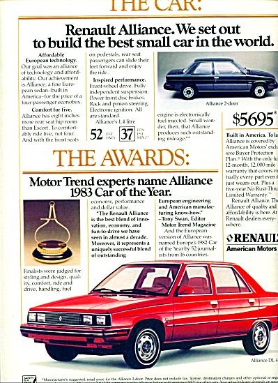 1983 -  Renault - American Motors, auto ad (Image1)