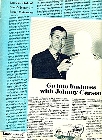 1970 -  JOHNNY CARSON  go into business (Image1)