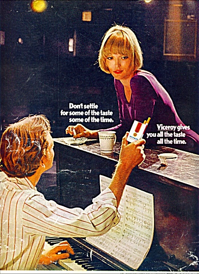 1970 - Viceroy's  cigarettes ad SINGING COUPLE (Image1)