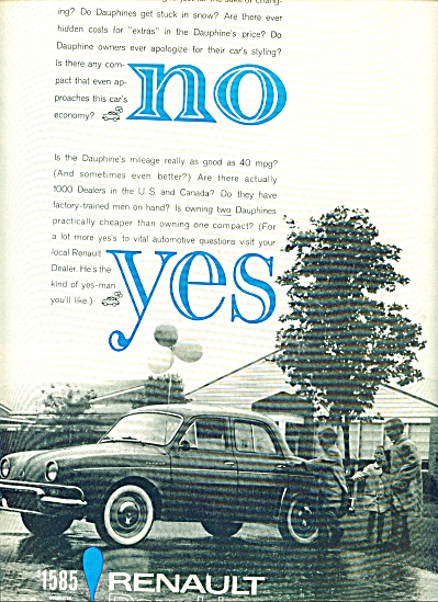 1960 -  Renault Dauphine auto ad (Image1)