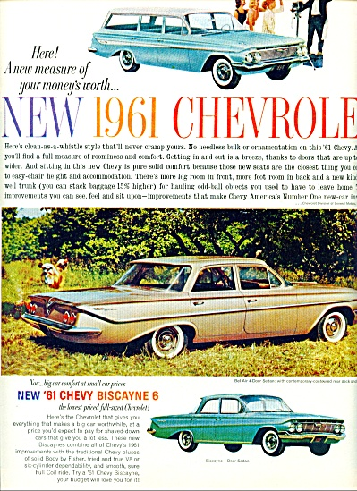 1960 - Chevrolet Biscayne 6 Ad