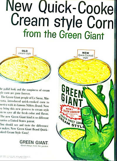 1960 Green Giant corn ad (Image1)