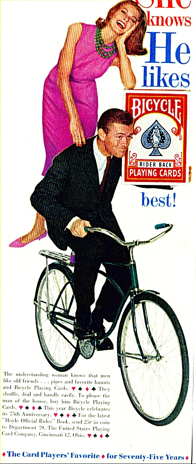 1960 -  Bicycle play ing cards ad (Image1)