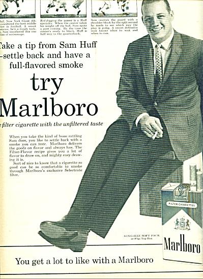 1960 -  Marlboro cigarettes - SAM HUFF (Image1)