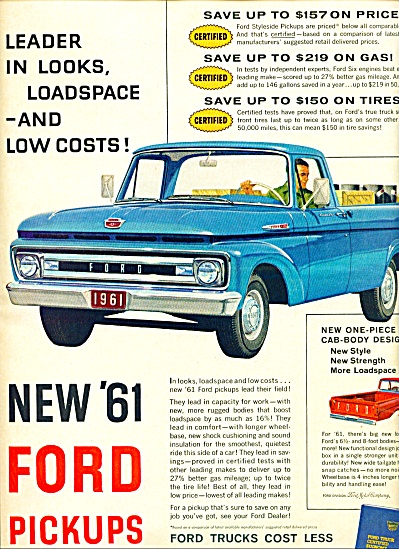 1960 -  New 1961 Ford pickups ad (Image1)