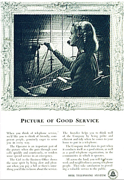 Bell Telerphone System Ad 1949