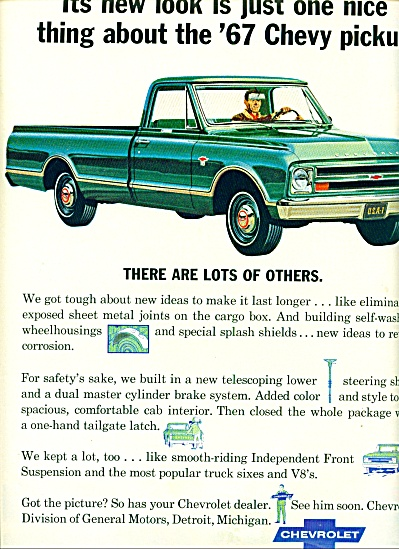 1967 -  Chevrolet pickup for 1967 ad (Image1)