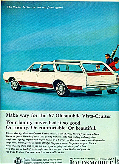 1967 - Oldsmobile Toronado Style For 1967