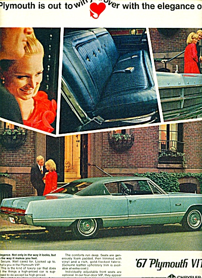 1967 -  Plymouth VIP for 1967 auto ad (Image1)