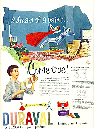 1952 - Duraval paint producted ad (Image1)