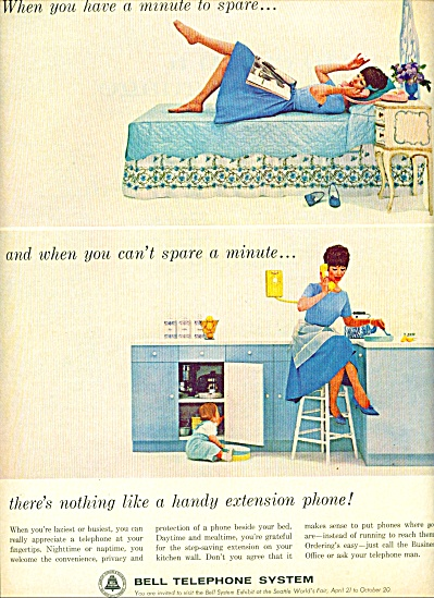 1962 -  Bell telephone system ad NOT A MINUTE TO SPARE (Image1)
