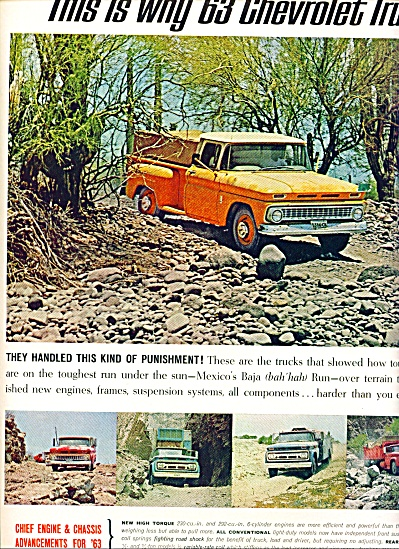 1963 - Chevrolet trucks for 1963 ad (Image1)