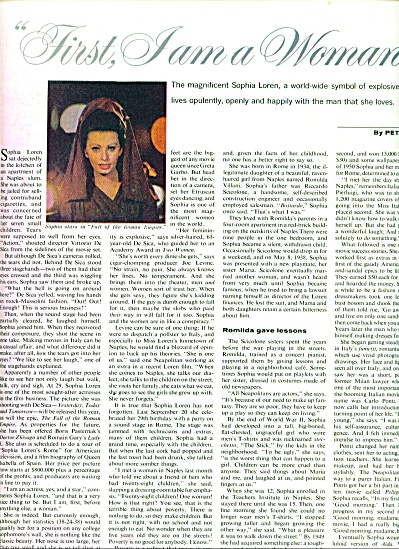 1964 -  STory:  SOPHIA LOREN (Image1)