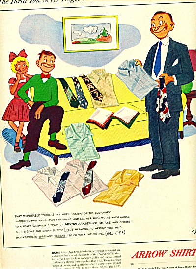 1949 -  Arrow shirts ad (Image1)