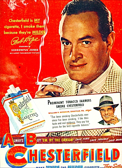 1949 - Chesterfield cigarettes - BOB HOPE (Image1)