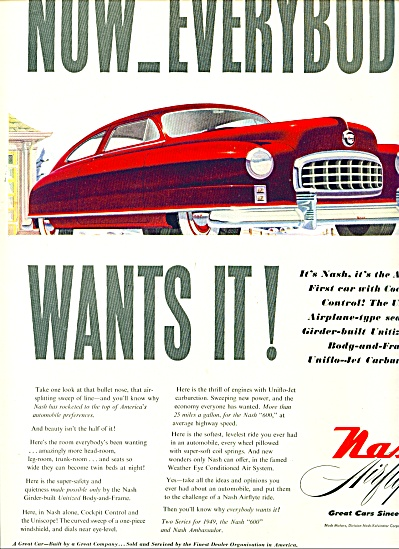 1949 - Nash Airflyte Auto Ad