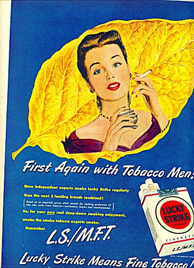 1949 - Lucky Strike cigarettes ad (Image1)
