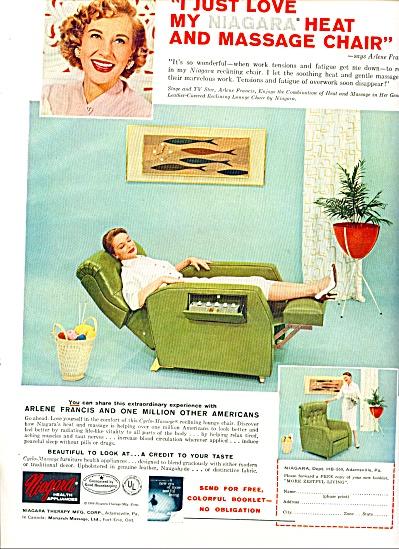 1959 -  Niagara heat and massage chair ad (Image1)