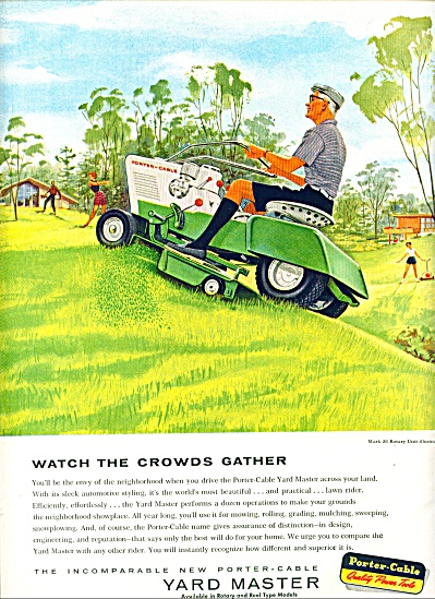 1959 -  Yard Master lawn tractors ad (Image1)