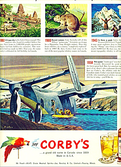 1950 - Corby's blended whiskey ad (Image1)
