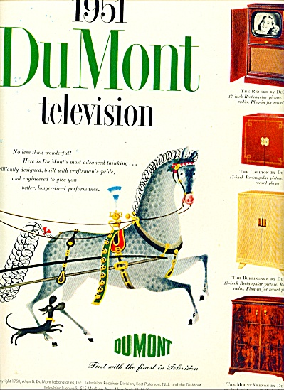 1950 -  DuMont television for 1951 (Image1)