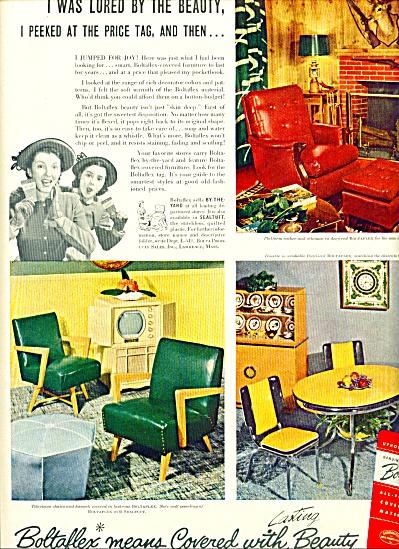 1950 - Boltaflex all plastic material ad (Image1)
