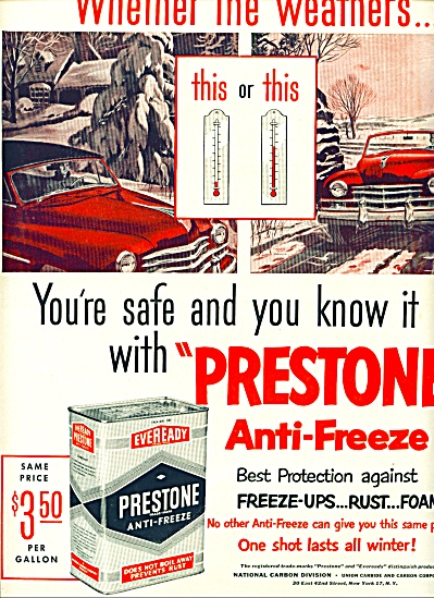 1950 - Prestone anti-freeze ad (Image1)