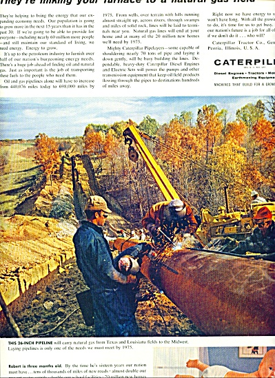 1960- Caterpillar Engines, Tractors Ad