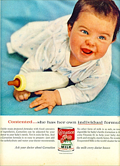 1962 - Carnation evaporated milk ad (Image1)