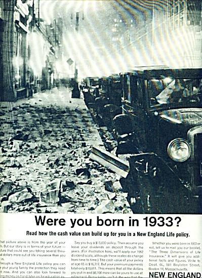 1962 -  New England Life ad (Image1)