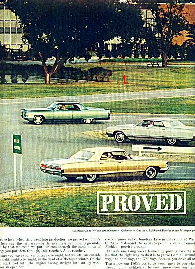 1964 -  General Motors cars ad MICHIGAN PROVING (Image1)