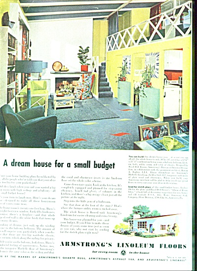 1947 -  Armstrong's Linoleum floors ad (Image1)